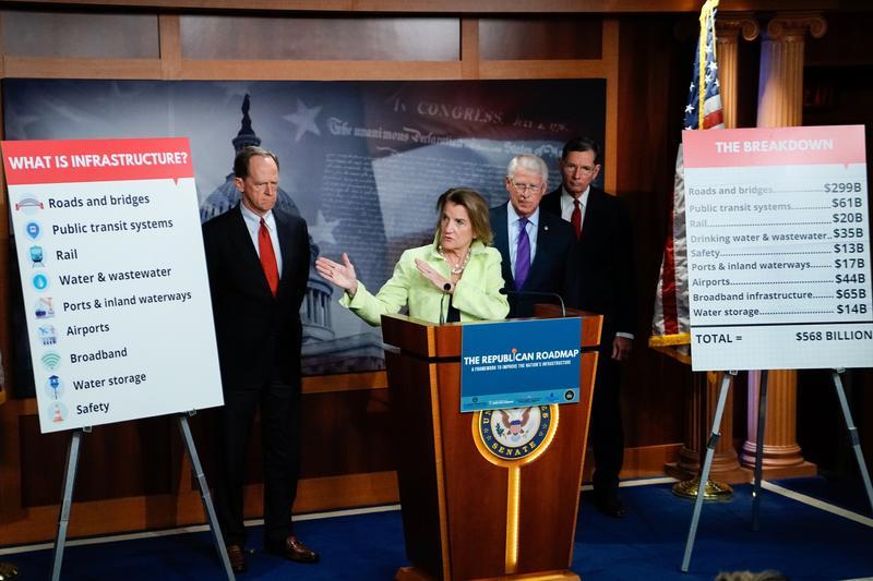 Republicans unveil $568 billion infrastructure package to counter Biden